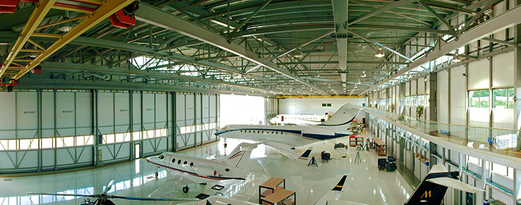 Large Aviation Hangar